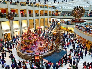 "HONG KONG - DECEMBER 25, 2015: interior of the Landmark shopping mall. The Landmark, also known as ""Central"", is one of the oldest and most prominent shopping malls in Hong Kong."